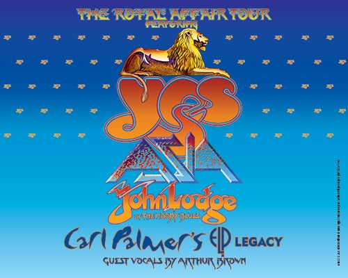 "YES Announces ""THE ROYAL AFFAIR TOUR"" Will Play Koka Booth Amphitheatre July 10"